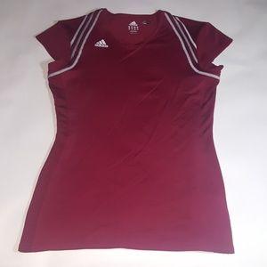 Womens Adidas sleeveless shirt Maroon Color